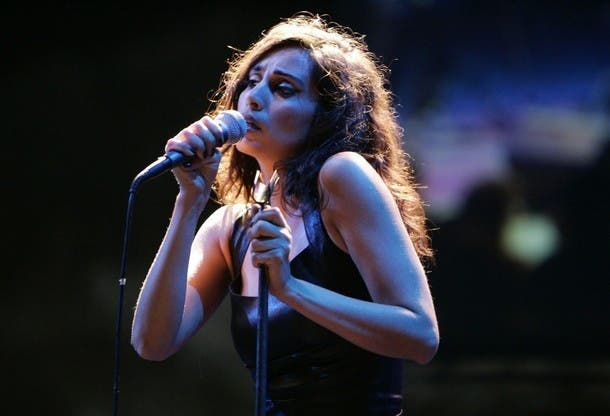 Lebanese singer Yasmine Hamdan.
