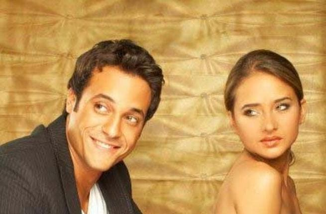 Youssef El Sharif (L) with co-star Nelly Kareem