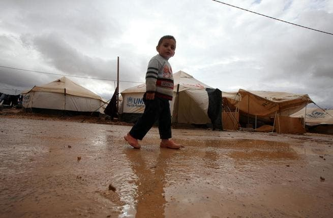 Zaatari camp on Tuesday after the rains hit (picture courtesy of UNICEF).