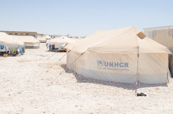 One of the many tents in the Zaatari refugee camp (J. Zach Hollo)