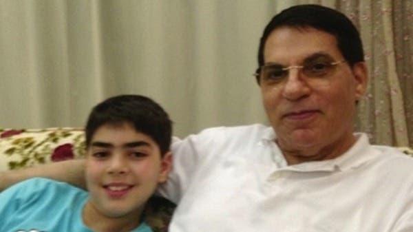 Former President Zine al-Abidine Ben Ali seen with his son Mohammed in an Instagram picture. (photo via Al Arabiya)