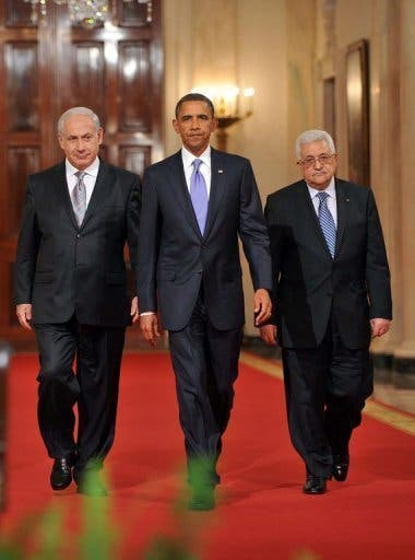 Obama, Abbas and Netanyahu