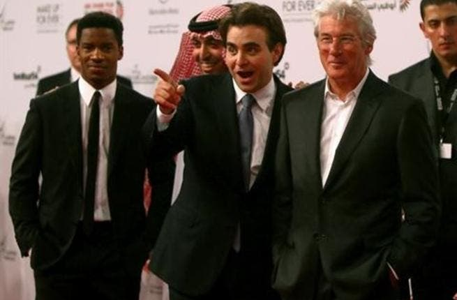 Jarecki, Director of the film 'Arbitage,' stands with US actor Richard Gere at the opening ceremony of the ADFF