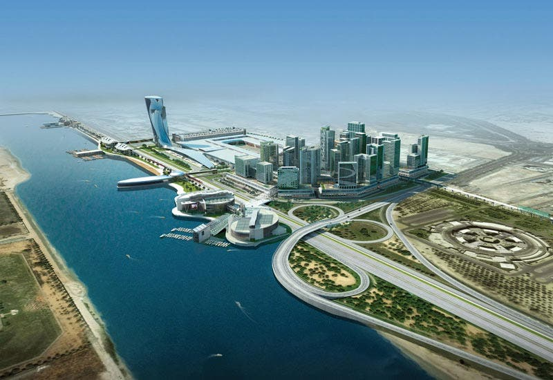 Aerial view of Mohammad Bin Zayed City