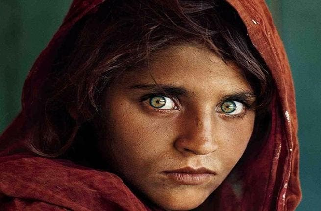 Steve McCurry's iconic work, 'Afghan Girl' (Photo courtesy of The National Geographic)