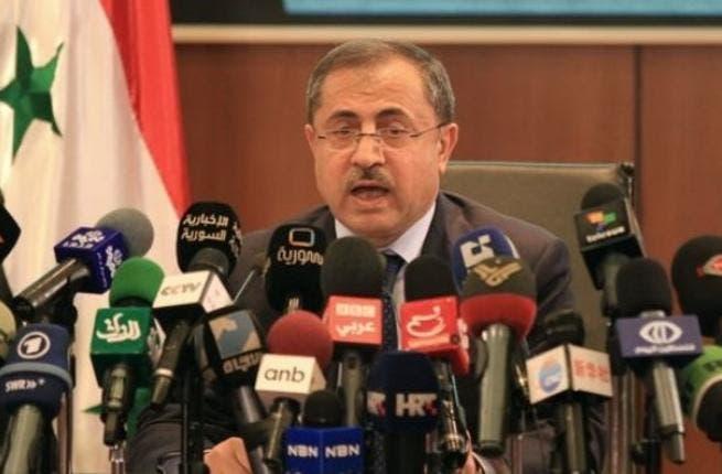 Syrian interior minister, Mohammed al-Shaar.