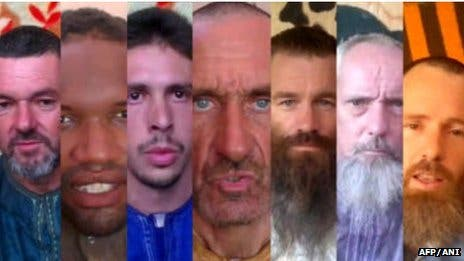 Screenshots of the hostages faces. (AFP/ANI)