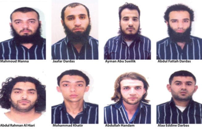 Photos released by the Jordan News Agency, Petra, of suspected members of a terror cell that allegedly plotted attacks on vital locations in Amman