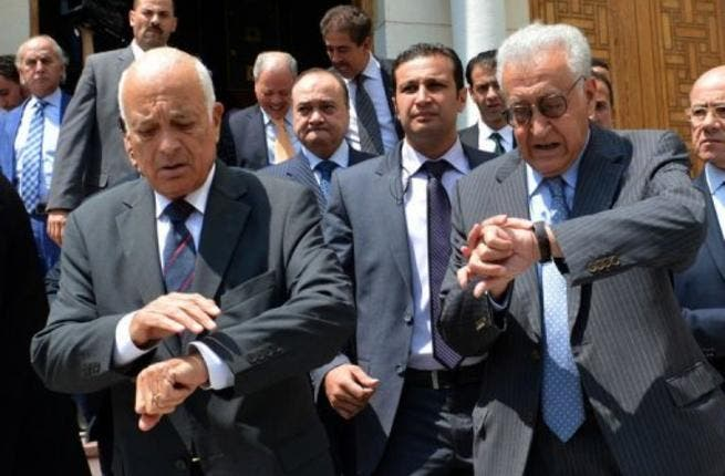 International mediator Lakhdar Brahimi called on Sunday for talks between the Syrian opposition and an 'acceptable delegation' from the Damascus government on a political solution to the country's 23-month-old civil war.