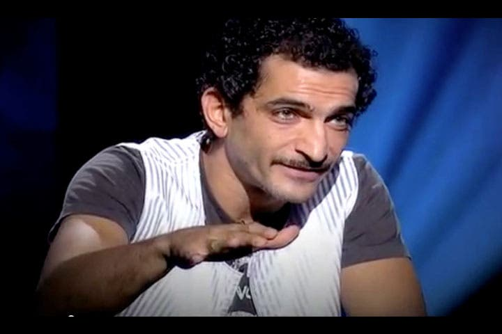 Getting defensive: Amr Waked walks out of Tony Khalife's show. (Image: Facebook)