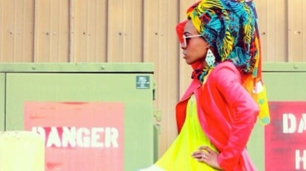 The style component to the competition was won by Yasmeen Sabir for her tropical headscarf scarf coupled with a coral motorcycle jacket ensemble. (Image courtesy: American Hijab Design Contest)
