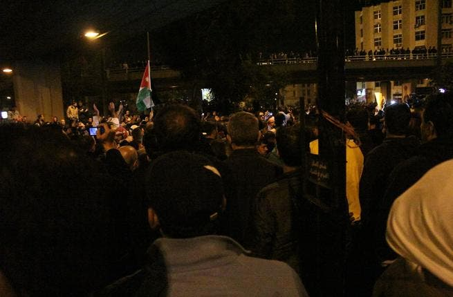 Scenes from the protests in Amman
