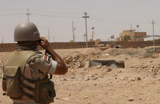 An Iraqi troop stationed in Anbar to crackdown on Al Qaeda activity (File Archive/AFP)
