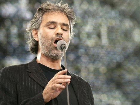 Andrea Bocelli will be singing for the UAE this March (Photo: Brussels Blog)