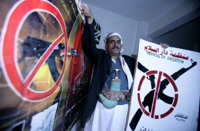 Sheikh Almarwani campaigns against revenge killings in Yemen