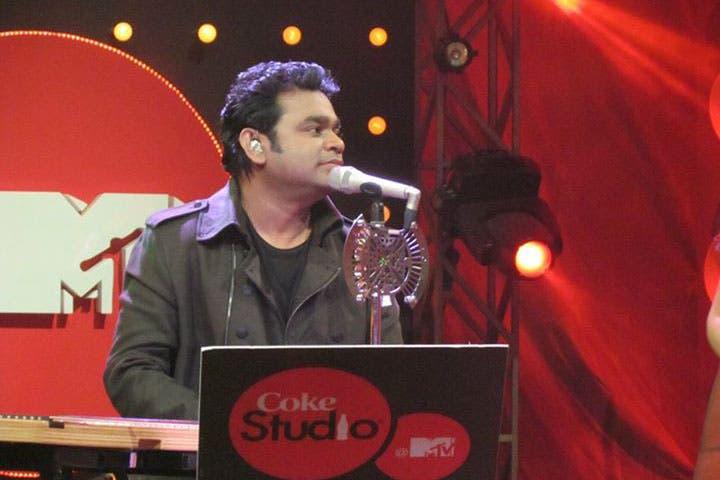 Grammy Award-winner AR Rahman at the Coke Studio@MTV event. (Image: Sound.com)