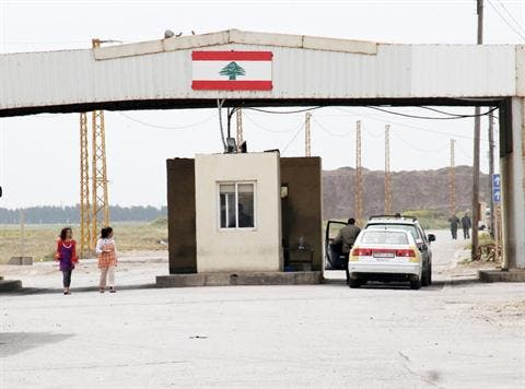 Lebanon's Arida border crossing in the north of the country.