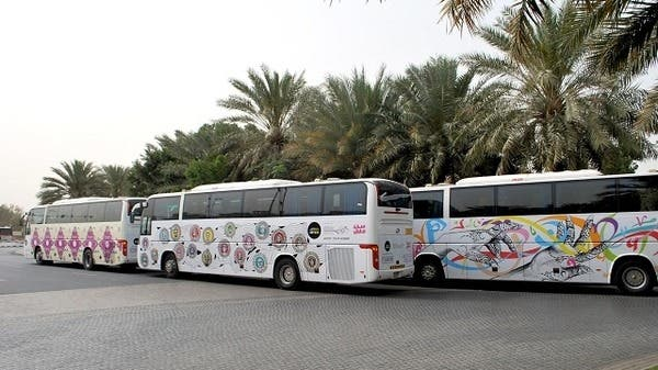 The buses are decorated with specially commissioned work by locally-based young artists. (Image courtesy ArtintheCity)