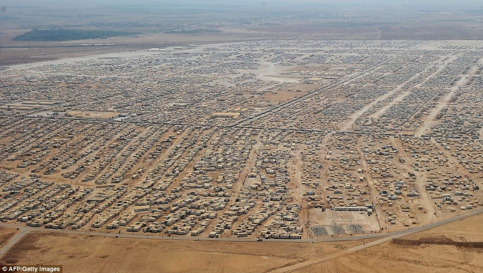S&P says that Jordan's economic outlook remains negative due to the impact of the Syrian crisis on the country, including the refugee influx in Zaatari refugee camp and throughout the country (AFP/Getty Images)