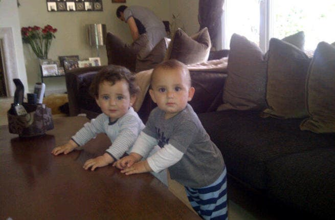 Asala's twins at home