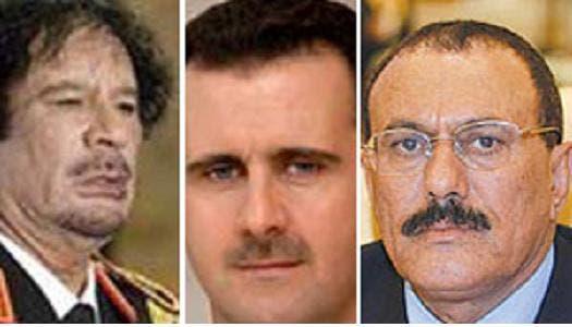 Assad Gaddafi and Saleh