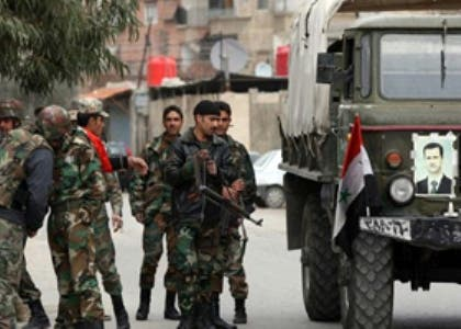Syrian army forces, who are loyal to President Assad, who are those believed to have perpetrated the recent attacks in the west of Syria. Image for illustrative purposes.