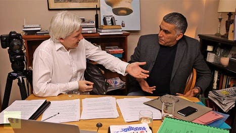 Wikileaks Julian Assange sent an experimental package to Bahraini activist Nabeel Rajab who was sentenced in 2012 on charges related to his activism (Courtesy of Wikileaks Central)