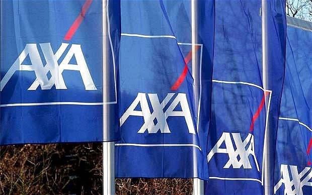 The French insurance major Axa emblem