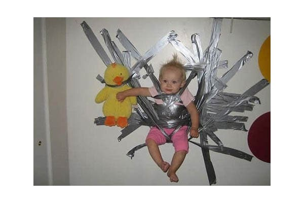 Saudi warns against ducK taping kids on the wall. (File photo).