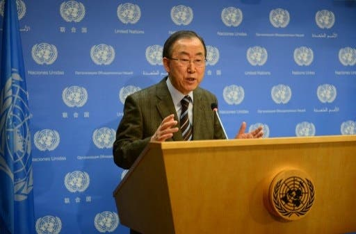 U.N. chief extended an invitation to Iran to attend Syrian peace talks in Montreaux this week (Emmanuel Dunand/AFP)