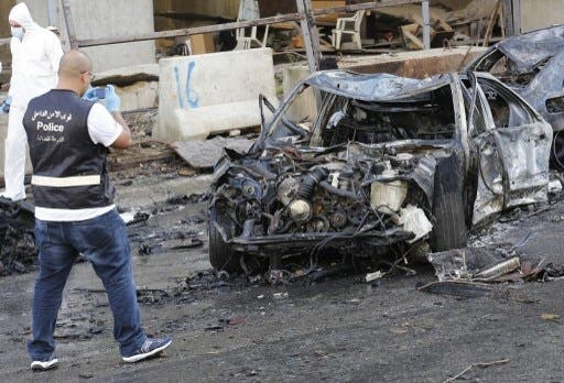 More than 50 people were wounded from Friday morning's bomb explosion in central Beirut (Anwar Amro/AFP)