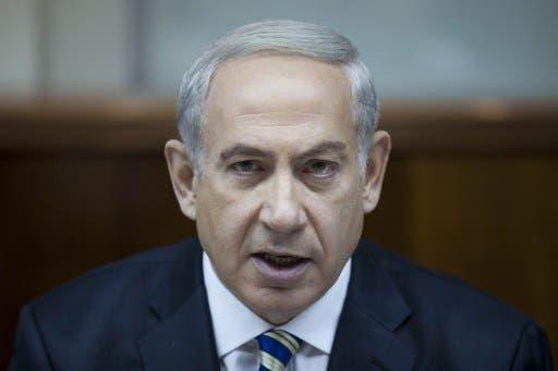 Israeli Prime Minister Benjamin Netanyahu speaks during the weekly cabinet meeting in Jerusalem on September 1, 2013. (AFP)