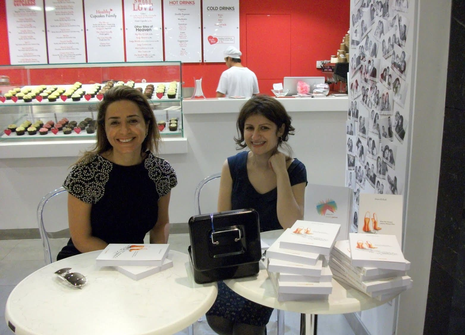 Cupcakes, chicks and brains: Lebanese writer Dania el-Kadi enjoys her moment of booksigning in Dubai.