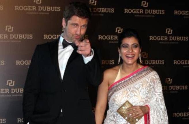 Gerard Butler and Kajol at the red carpet opening of Roger Dubuis at DIFC (Photo: Arshad Ali / Gulf News)