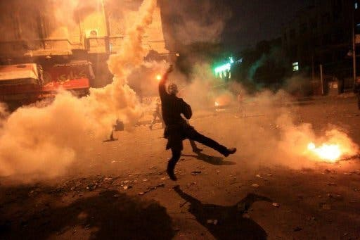 Clashes erupted in Cairo on the anniversary of the April 6 general strike (File Photo)