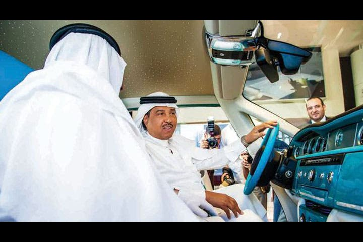 Mohammad Abdo behind the wicked sweet wheel (Image courtesy of albayan.ae)