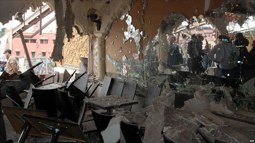 Al Qaeda bombings in Casablanca left 33 people dead in May 2003 (File Archive/AFP)