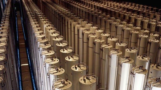 American centrifuges enriching uranium (Photo credit: US Department of Energy/ Wikimedia Commons)