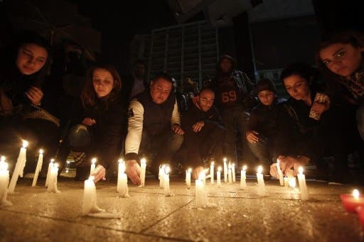 A vigil for the late minister was held in Beirut this weekend following Friday's bomb explosion (Anwar Amro/AFP)