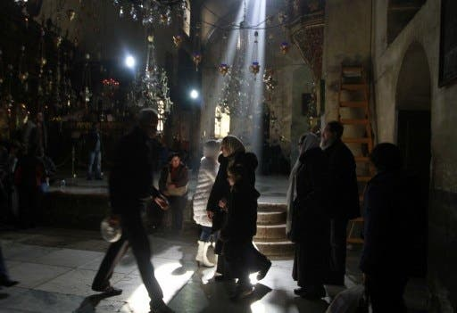 The Arab Ministers had planned to attend the Christmas Eve midnight mass at the Church of the Nativity (Musa Al Shaer/AFP)