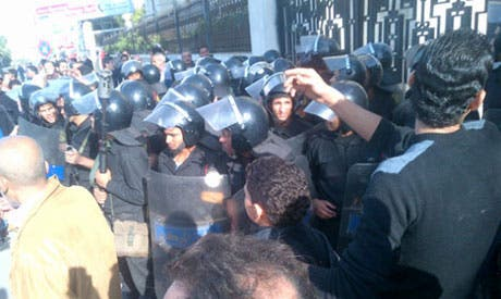 Old clashes in Alexandria (Photo: Ahram Online archive)