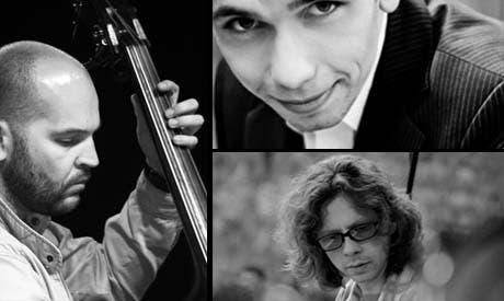 Szymon Klima on clarinet, Joachin Mencel on piano and Adam Kowalewski on contrabass