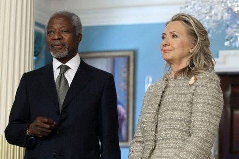 Annan and Clinton
