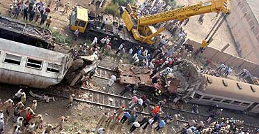 Egypt is notorious for its poorly-kept railway system that has resulted in a growing number of fatal accidents (Reuters)