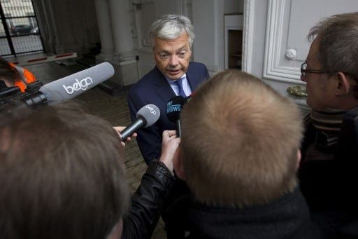 Belgium Foreign Minister Didier Reynders said that under the new diplomatic status, the head of the Palestinian delegation to the country will now be referred to as an ambassador (Kristof Van Accom/AFP)