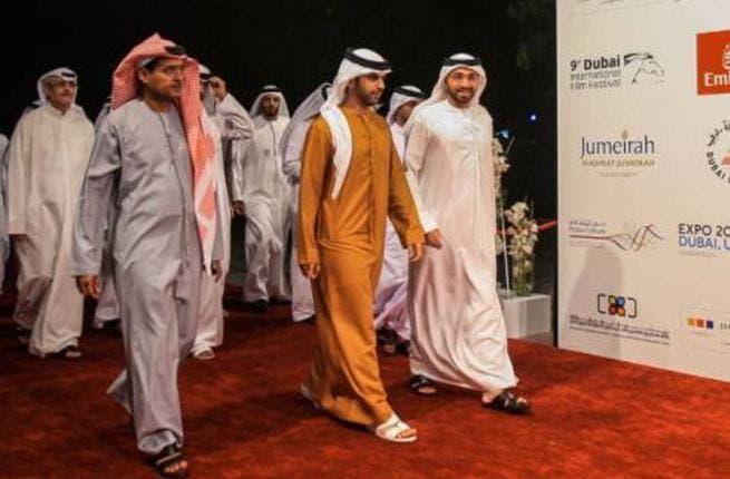 Shaikh Mansour Bin Mohammad Al Maktoum with Abdul Hamid Juma, Diff Chairman, at the closing ceremony (Photo: Ahmed Ramzan / Gulf News)