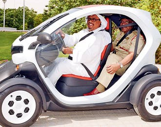 Dubai Police have decided to turn over a greener leaf with their latest launch - this eco patrol vehicle.