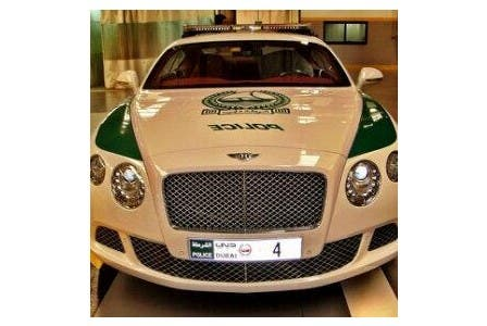 Photos of a Bentley and Mercedes SLS painted in the colours of the force, parked in the Dubai Police garage are making the rounds on social media today, having number plates 4 and 5 respectively.