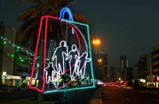 Dubai Shopping Festival lights are up and ready for today's extravaganza to kick off (Photo: Arshad Ali/Gulf News)