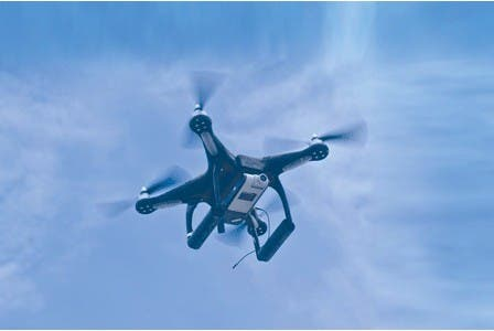 A remote-control aircraft to spy on fans at football matches is the latest crime-busting device launched by police in Dubai.